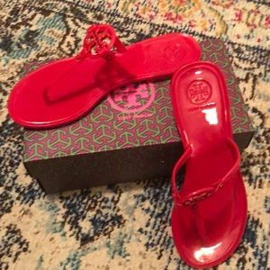 Tory Burch Mini Miller jelly sandal. Used in box.